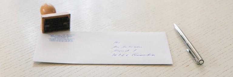 Kontakt Briefunschlag Germersheim